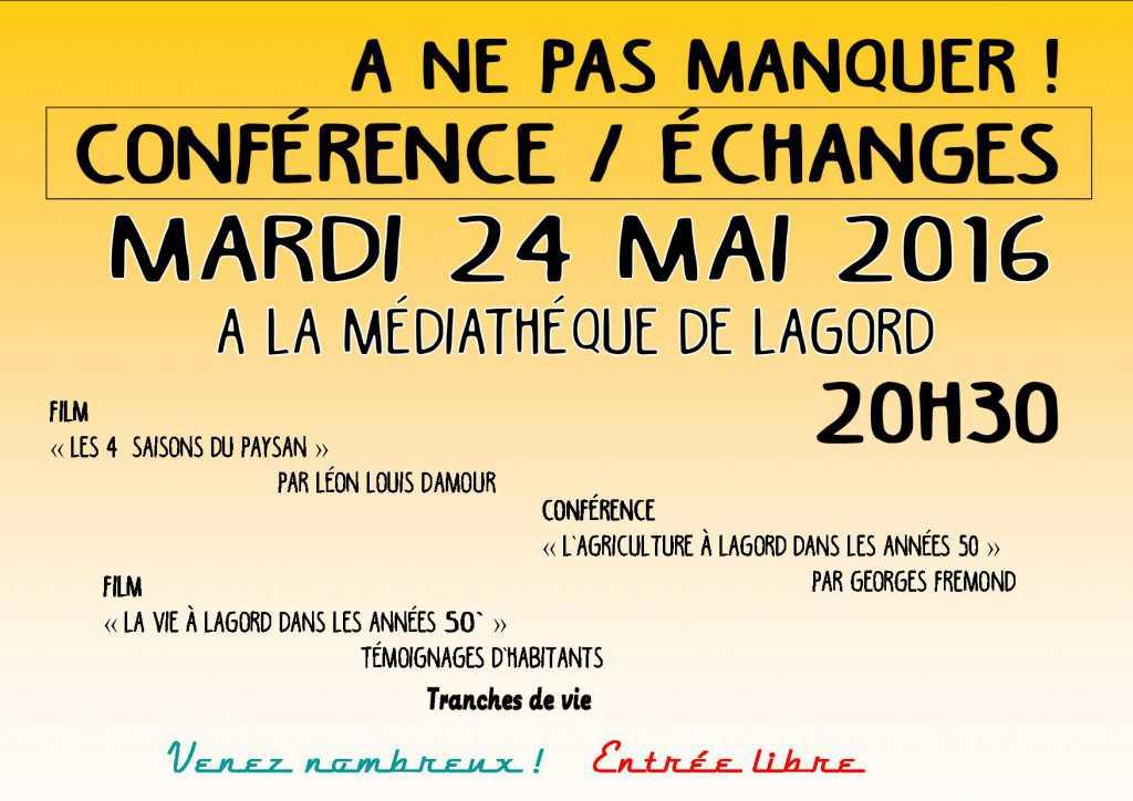 affiche conférence echange
